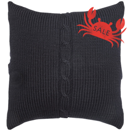 Chunky Cable Cushion Cover - Black