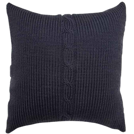 Chunky Cable Cushion Cover - Charcoal
