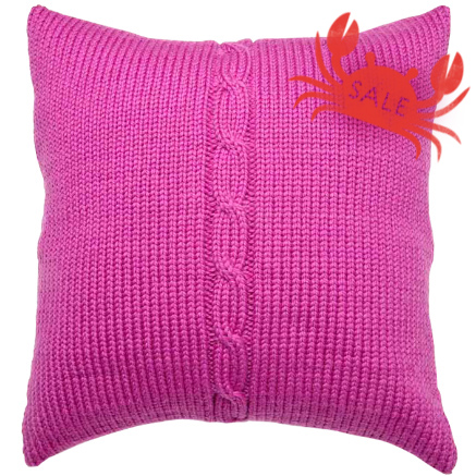 Chunky Cable Cushion Cover - Lipstick