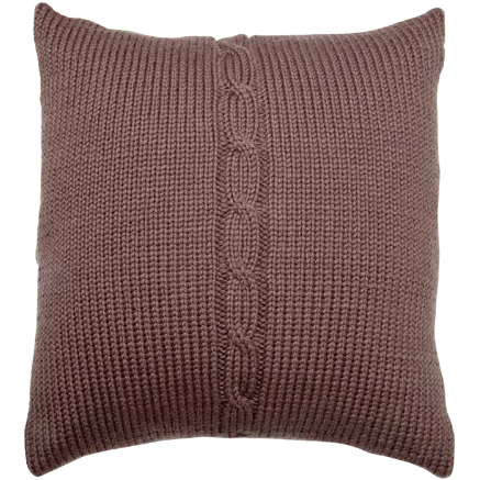 Chunky Cable Cushion Cover - Mink