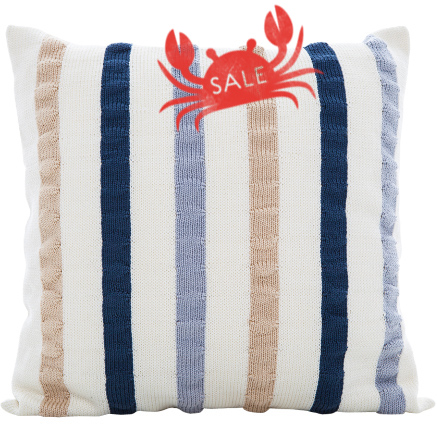 Ribbon Cushion Cover - Ivory / Multi
