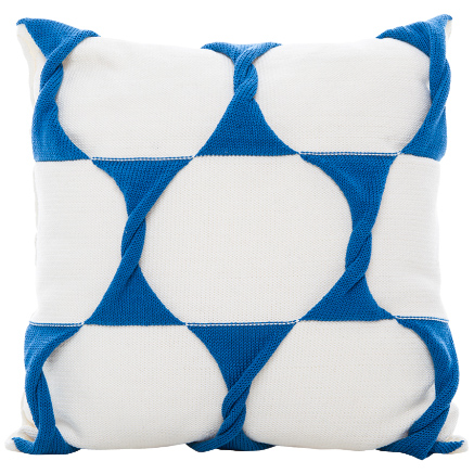 Twist Cushion Cover - Cream / Marine
