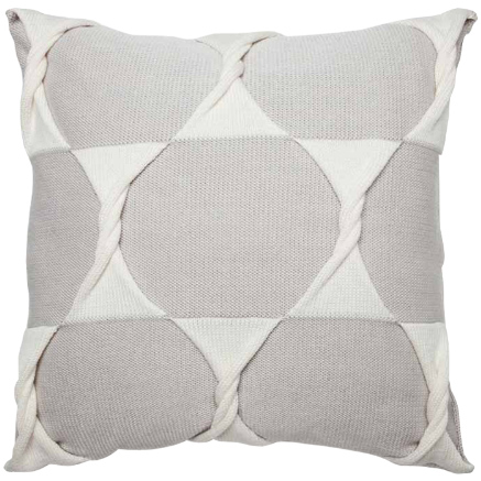 Twist Cushion Cover - Silver