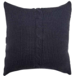 Chunky Cable Cushion - Charcoal