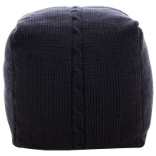Chunky Cable Pouf - Charcoal