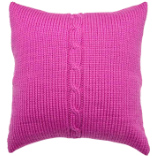 Chunky Cable Cushion - Lipstick