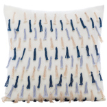 Tassel Cushion - Ivory / Multi