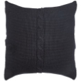 Chunky Cable Cushion - Black