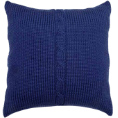 Chunky Cable Cushion - Indigo