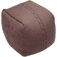Chunky Cable Pouf - Mink