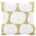Twist Cushion - Cream / Celery