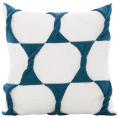 Twist Cushion - Cream / Teal
