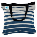 Beach Bag - Striped Blue