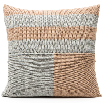 Blocks Cushion Cover - Beige and Grey