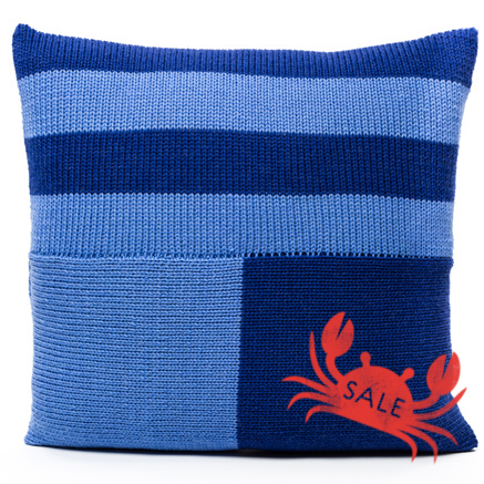 Blocks Cushion Cover - Blue