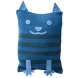 Cat Cushion Cover - Blue
