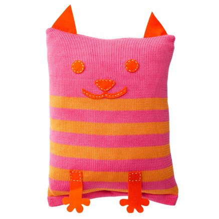 Cat Cushion - Pink