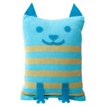 Cat Cushion Cover - Turquoise