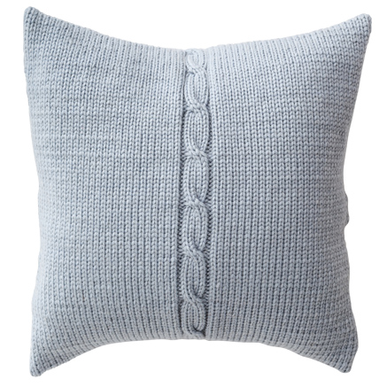 Chunky Cable Cushion Cover - ice Blue