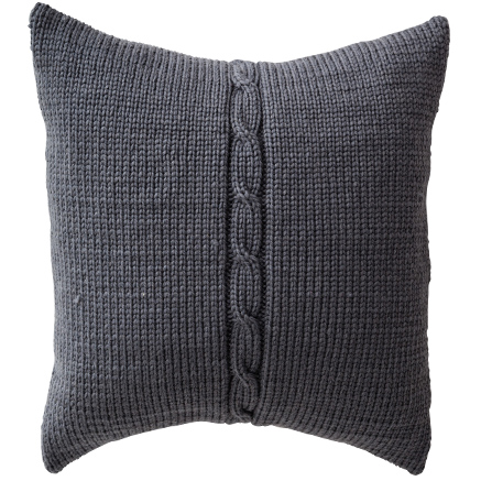 Chunky Cable Cushion Cover - Smoke
