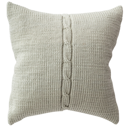Chunky Cable Cushion Cover - Water Green