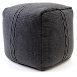 Chunky Cable Pouf - Smoke