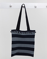 Deckchair Stripe Bag - Navy / Grey