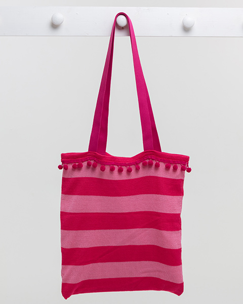 Deck Chair Stripe Beach Bag - Pink