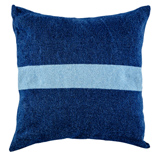 Denim Cushion Cover - Dark Wash / Broad Stripe