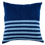 Denim Cushion Cover - Dark Wash / Narrow Stripes