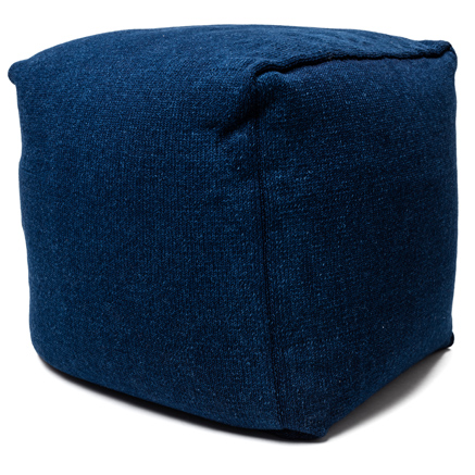 Denim Pouf - Dark Wash
