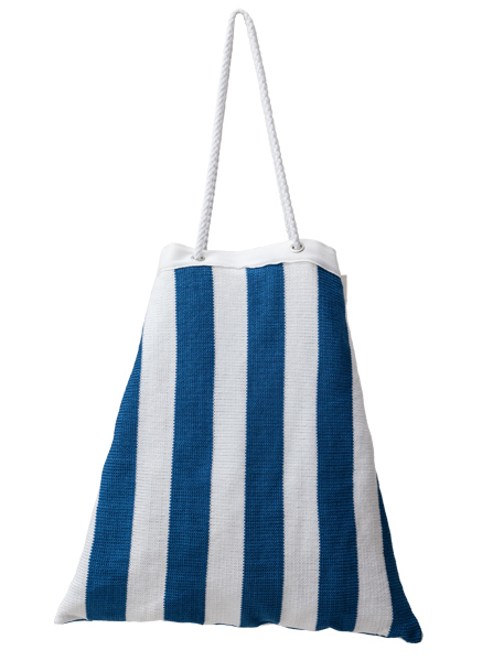 Drawstring Beach Bag - Marine