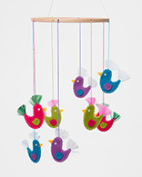 Xmas Decorations - Felt Birds Mobile