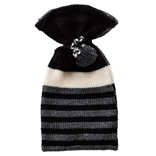 Hot Water Bottle Cover - Black / Grey