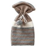 Hot Water Bottle Cover - Beige / Grey