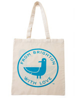 Oscar the Seagull Cotton Shopping Bag