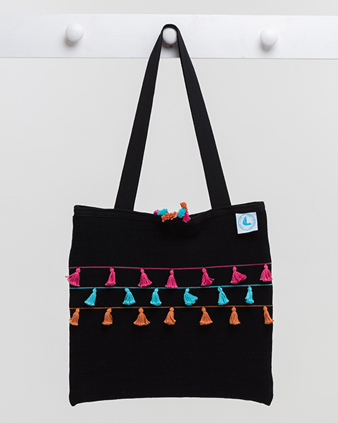 Tassel Beach Bag - Bright