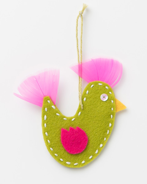 Xmas Decoration - GreenFelt Bird